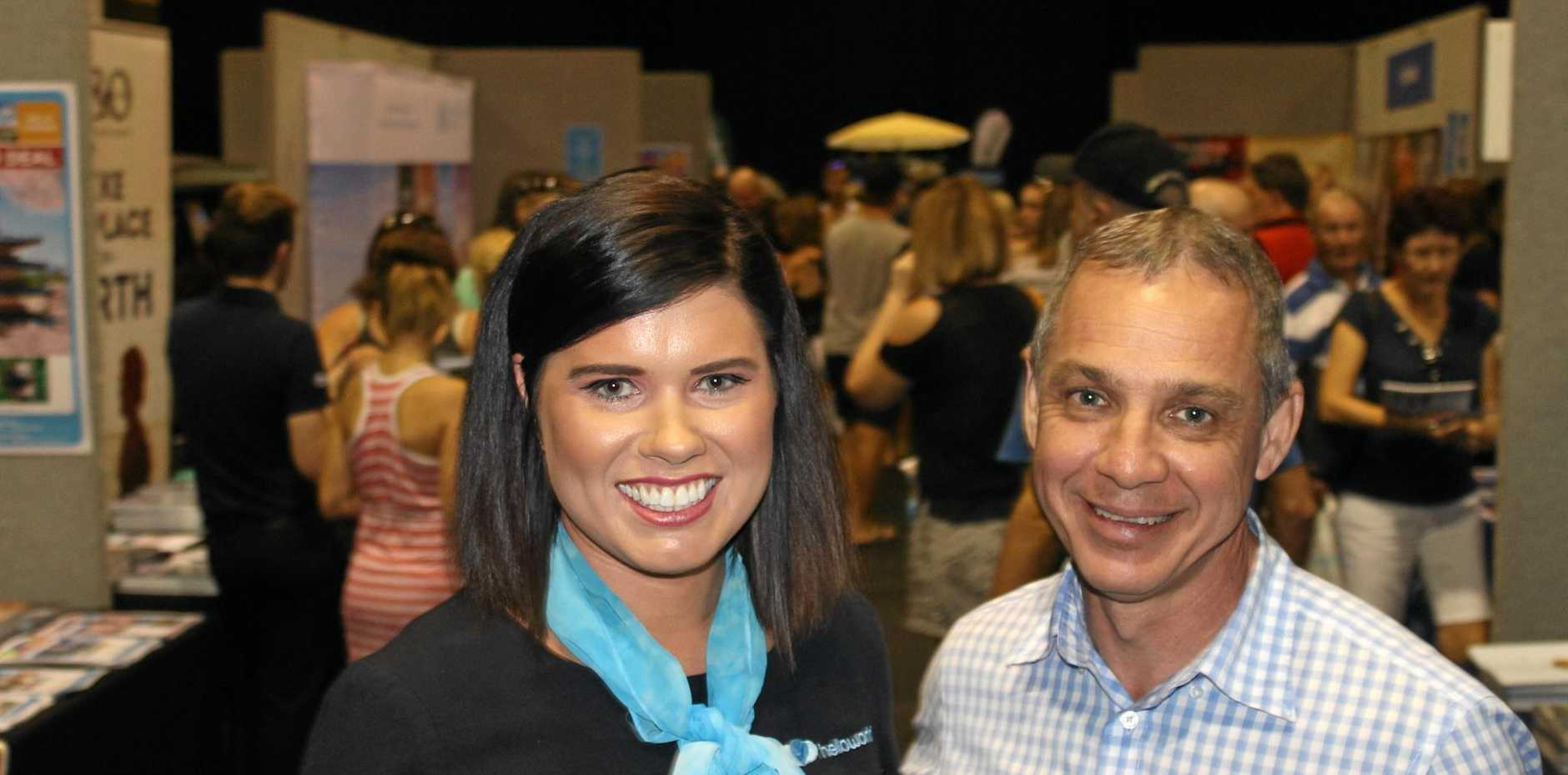 helloworld Mackay's Laura Barwell, marketing manager, and Mark Walter, general manager, were thrilled with the turnout at the travel company's Travel Expo on Saturday. It was estimated 5000 people were drawn to the deals, seminars and expert advice on offer at Saturday's event.