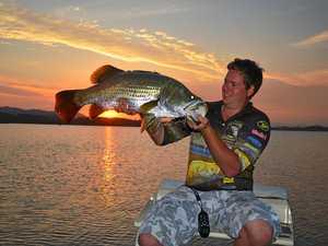 A new strategy being developed hopes to make Mackay a recreational fishing hotspot. Sam McCowan with a Kinchant Dam barra.