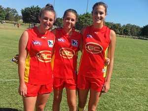 Mackay girls play for GC Suns in Brisbane AFL curtain raiser