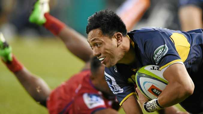 Christian Leali'ifano in action for the Brumbies