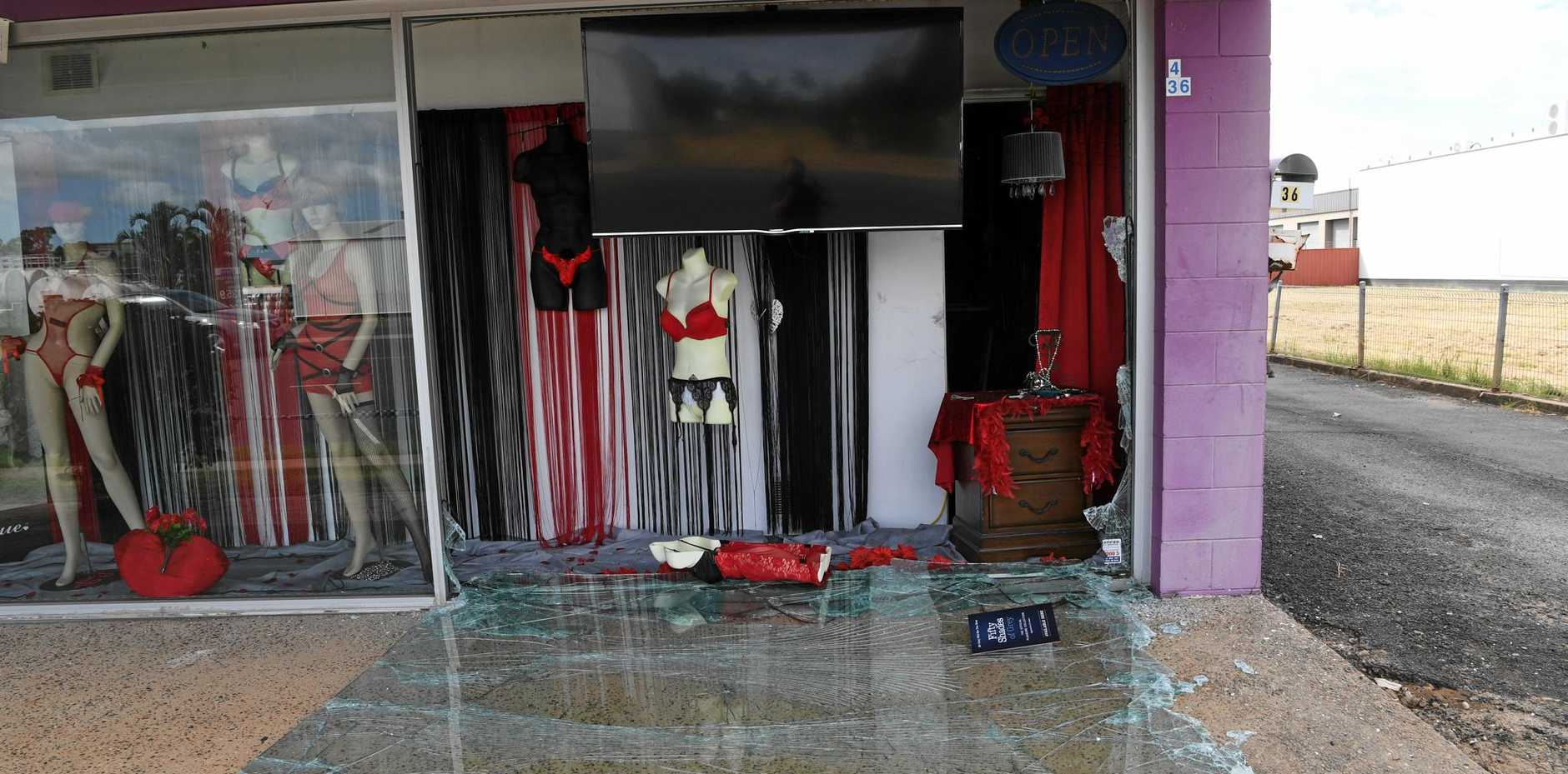 Bundaberg Police think the Totally Adult sex shop in Princess St Bundaberg East may have been targetted by arsonists.