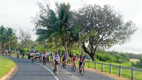 About 30 cyclists take part in the beyondblue charity ride held in Mackay on Sunday.