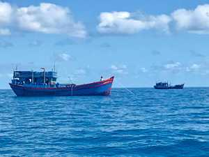 BUSTED: Gladstone recreational fisherman Duncan Reilly spotted the two Vietnamese fishing vessels, believed to be used for illegally catching sea cucumbers, off our region's shore at the weekend.