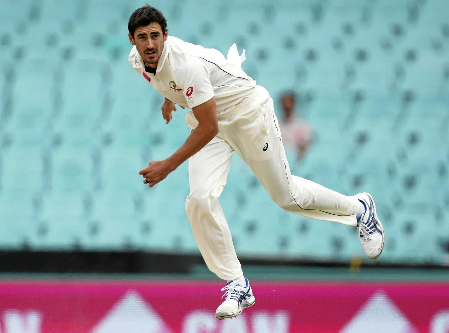 Australian fast bowler Mitchell Starc.