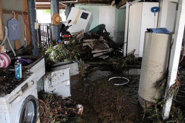 Damage from Cyclone Marcia at Kerrigan St, Rockhampton