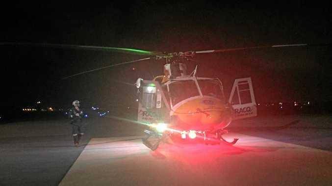The RACQ CQ Rescue chopper.