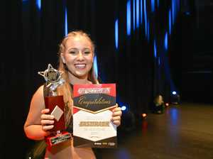 PROUD PERFORMER: Dancer Yasmine McGuiness couldn't wipe the smile off her face after winning the Fast Track Talent Quest.