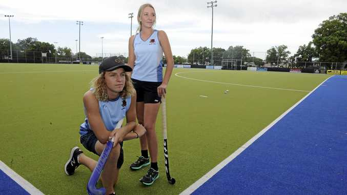 RISING STARS: Grafton Hockey Association juniors Reece Gaddes and Samira Lawson have been selected to represent NSW Blues at the under-18 Australian Championships at Hobart in April.