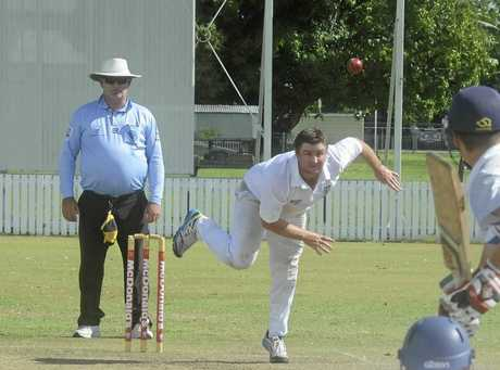 Luke Many gets a ball to move away from the left hander during the North Coast Cricket Council First Grade Inter-District clash between Lower Clarence and Coffs Harbour at Harwood Oval.