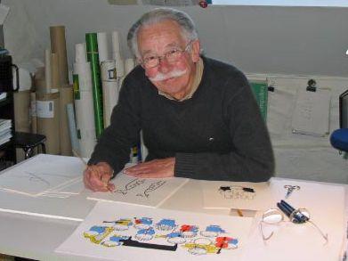 Author and illustrator Dick Bruna.