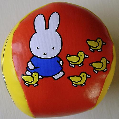 The cartoon rabbit character Miffy, created by Dick Bruna.