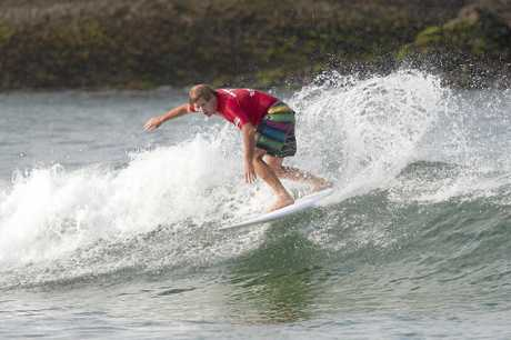 Wayne 'Rabbit' Bartholomew in action during Round two of the Grand Masters at the SuperSurf ASP Masters Championship in Arpoador, Rio de Janeiro, Brazil in 2011.