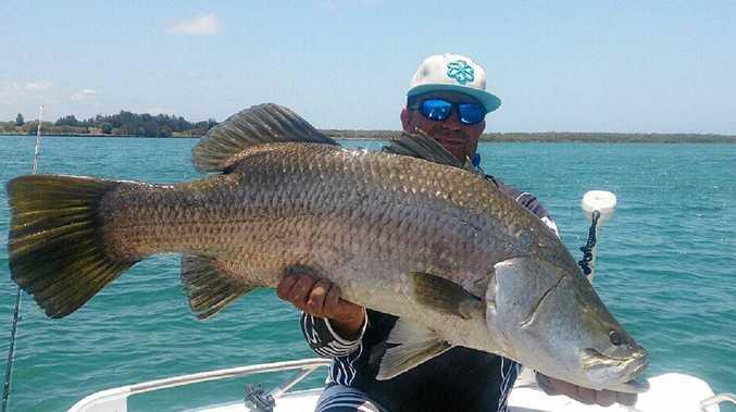 Jordan Stoddart with 108 burnett river barra caught on a westin bony the bream