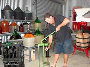 John Briffa at his winery in Clifton.