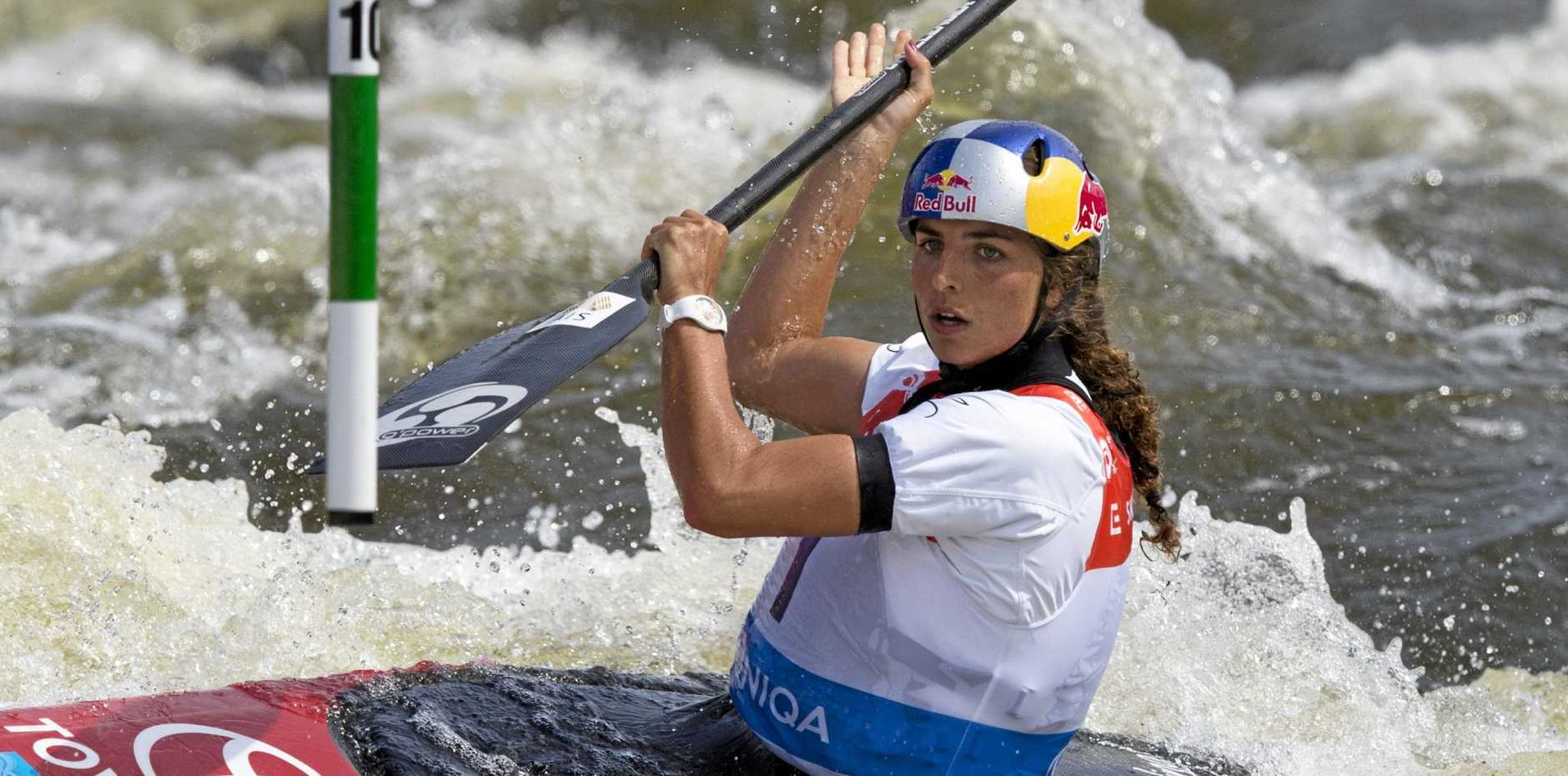 Jessica Fox in action at the 2016 World Cup in Prague.