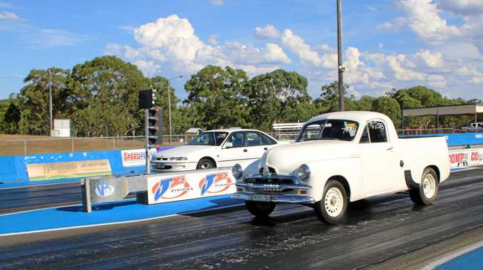 Competitors on track at Warwick Dragway on Saturday.