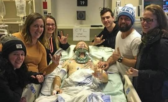 Rhys Wood has support in Canada after being injured in a snowboarding accident.