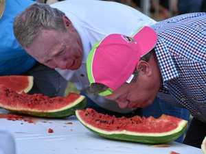 Horror as Tim Nicholls eats a melon