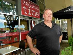 UNHAPPY: Paul Smart from the Endless Time Cafe in Nambour has been copping online abuse after the One Nation press conference was asked to move away by C-Square management.