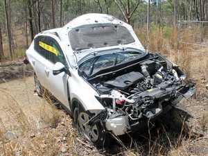 Woman crashes on Dawson Hwy