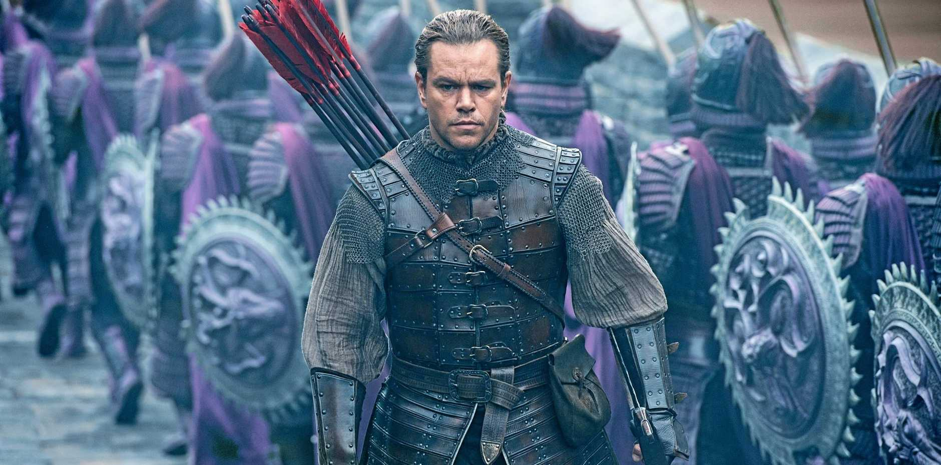 Matt Damon fails in a scene from the movie The Great Wall.