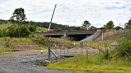 HIGH AND DRY: The new high level Traveston Creek bridge, seen from the existing level in in Old Traveston Rd.