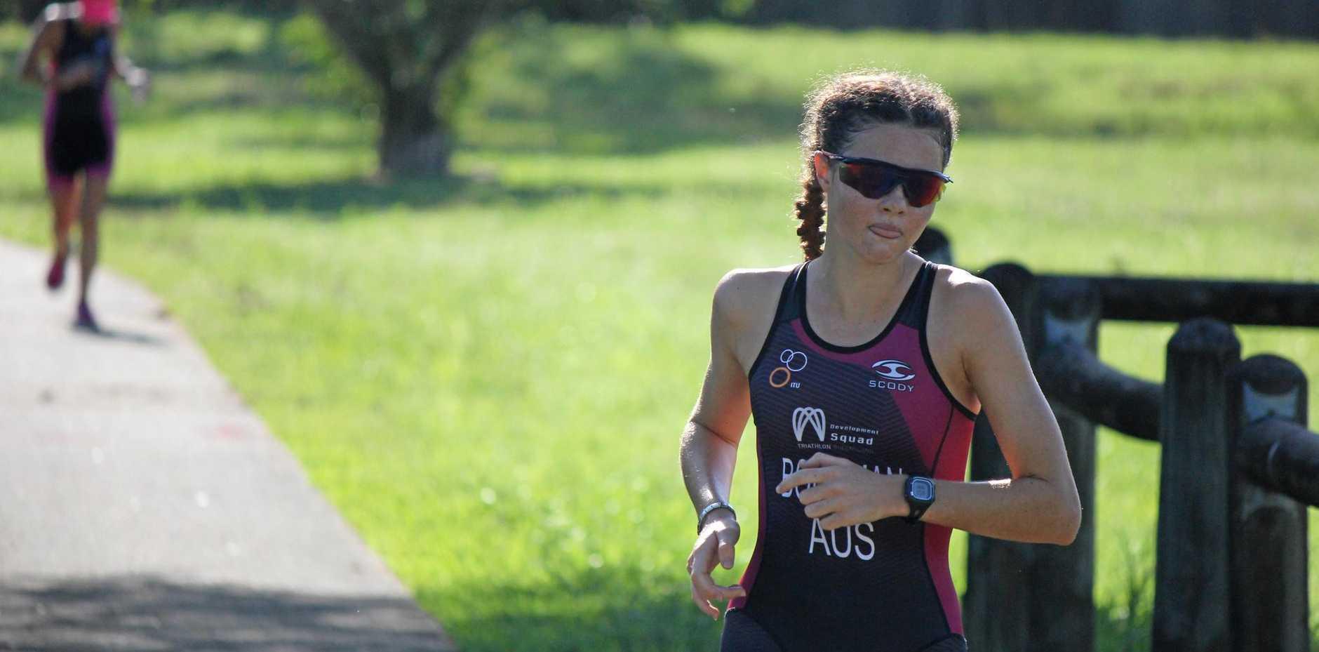 The overall winner of the Sonya Brazil Memorial Women's Only Triathlon, Jamie Bornman.