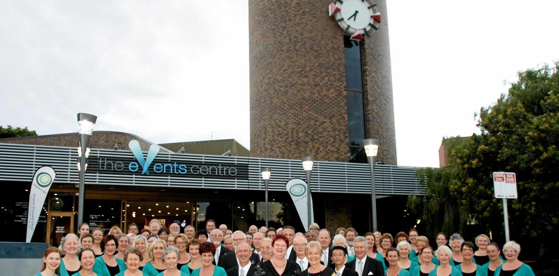 Sunshine Coast Oriana Choir outside at The Events Centre, Caloundra.
