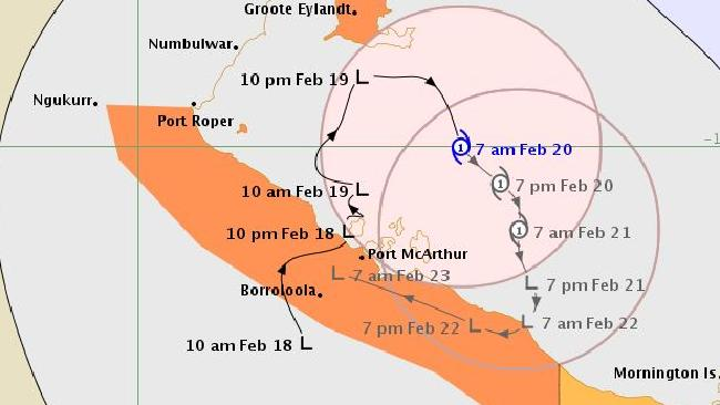 Tropical Cyclone Alfred has formed in the Gulf of Carpentaria and will cause intense rain and storms on the Queensland side of the NT border.