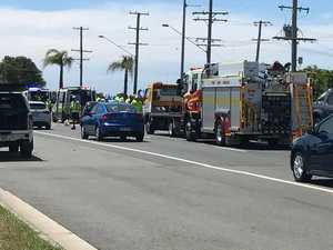 Emergency crews rush to Coast crash