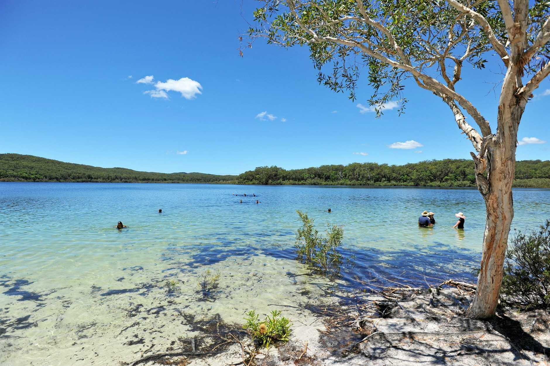 Fraser Island - Lake McKenzie.  Photo: Alistair Brightman