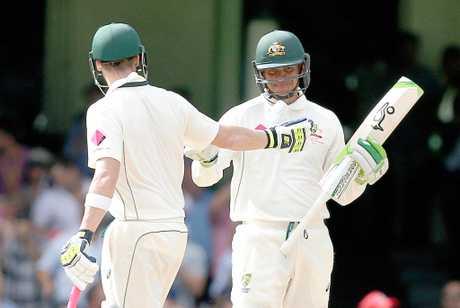 Usman Khawaja reaches 50 in Australia's last Test in Australia.