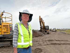 Development of the Bokarina beach development is underwayPeter Hall from Hall Contracting on site of the new development.