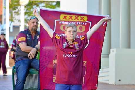 Queensland Maroons hit Gladstone.