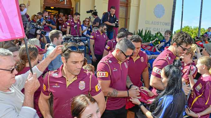 Qld Maroons hit Goondoon St, Gladstone, for Fan Day 2016