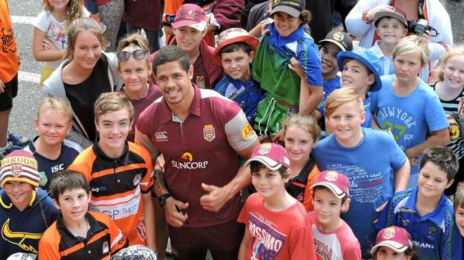 Mackay product Dane Gagai's inclusion in the Queensland team for the third game made him a big draw card at the Proserpine fan day