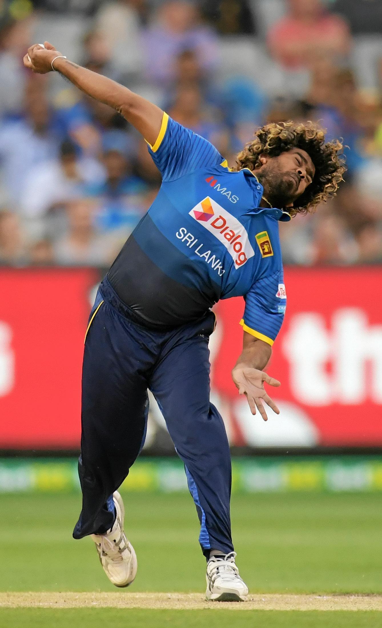Lasith Malinga of Sri Lanka.