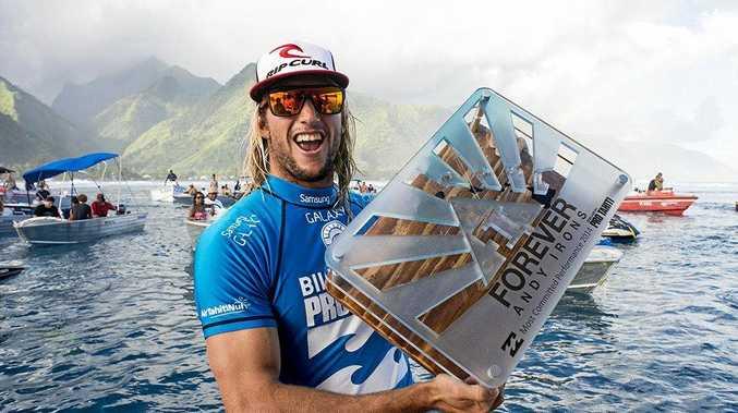 Owen Wright at the 2014 Billabong Pro Tahiti.
