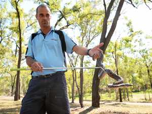 Rockhampton snake catcher Ben Hansen.