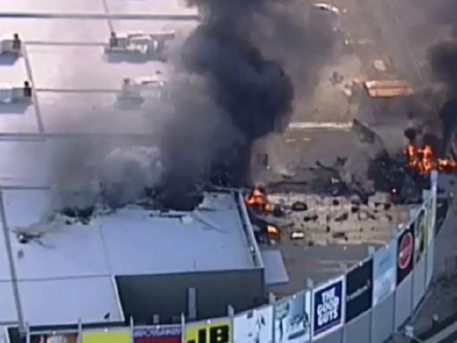 The scene of the crash at Essendon DFO.