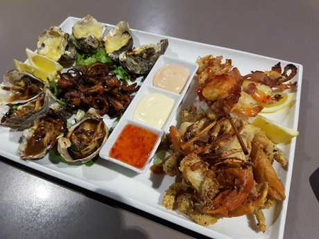 Diceys Seafood Plate is a food fave
