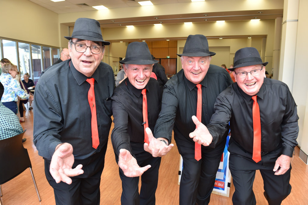 Pip Richards, Kev Riley, Bob Cole and Graeme Sharpe from Mansong are ready to entertain the crowd at their upcoming concert next month.