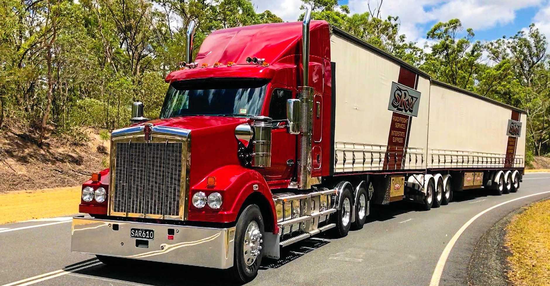 TOUGH: B-double spec, 600 horsepower from the Cummins X15, a tough truck.