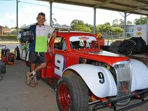 WINNER: Hatton Vale's Steve Isdale took out the legends race at the Lockyer Valley Speedway on Saturday, February 11.