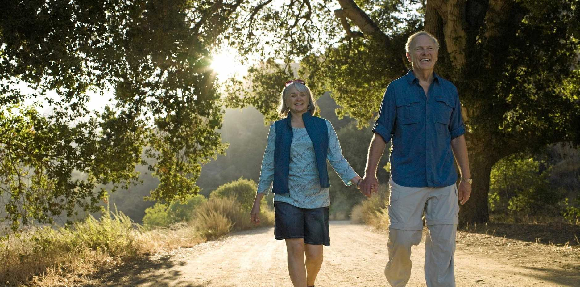 Sedentary older Australians are being encouraged to get walking to help reduce their time in hospital.