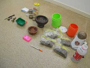 DRUGS: Police seized drugs and other paraphernalia during co-ordinated raids.