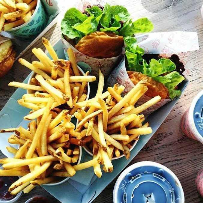 Betty's Burgers offerings. Noosa.