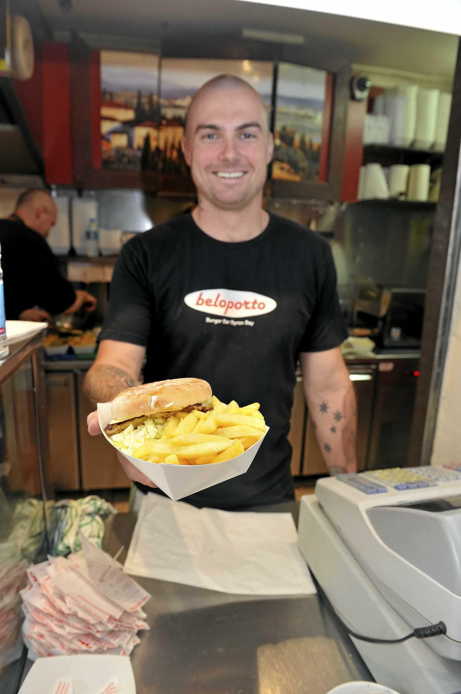 Shane Morritt, manager of Beloporto Burger Bar in Byron Bay.