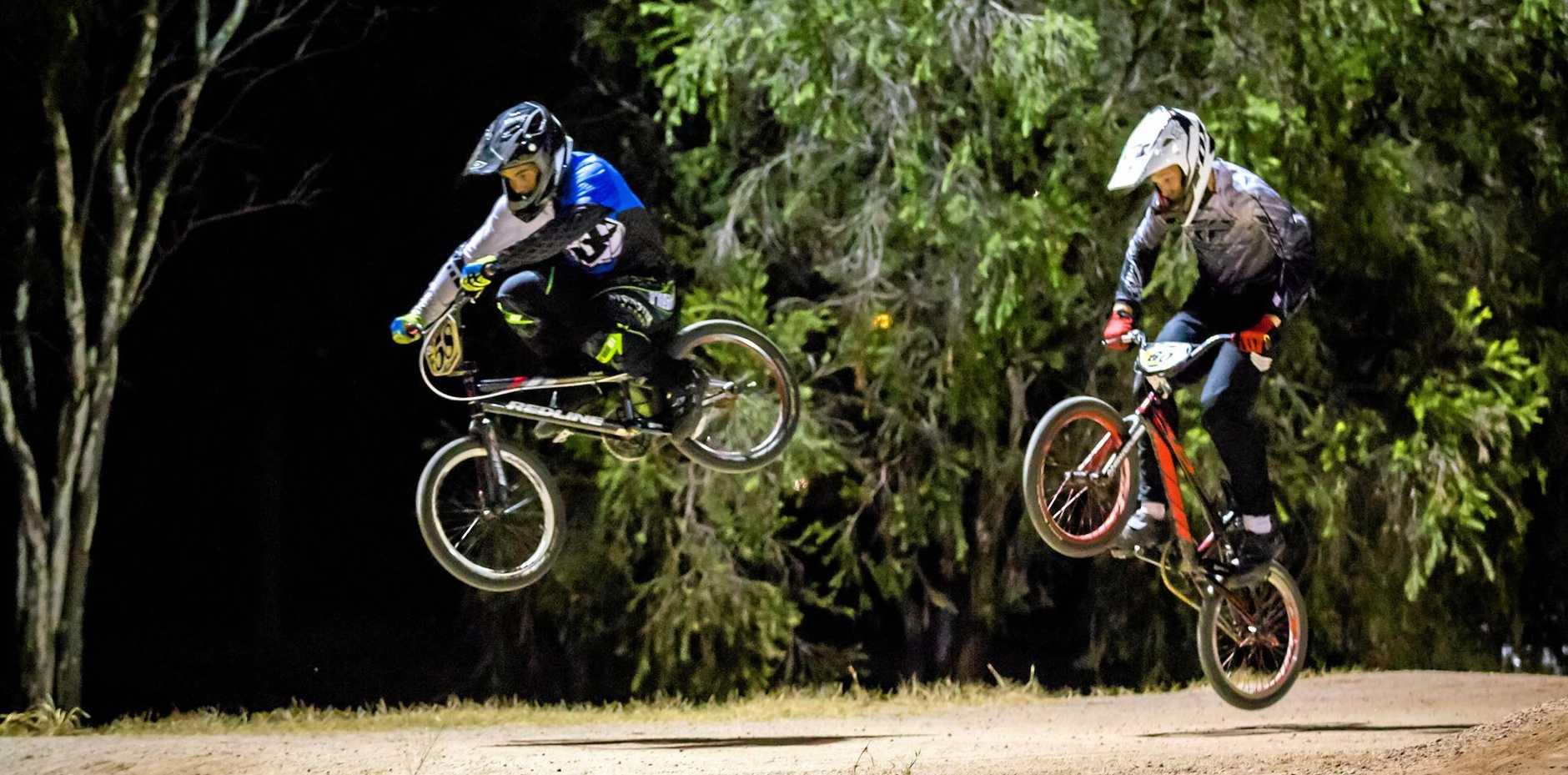 BMX Alexzander Knowles (left) and Aden Finch (right) 14/15y boys