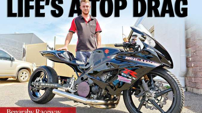 EXCITED: Mitch Ward with his modified bike he will be putting through the paces on Saturday afternoon and night.